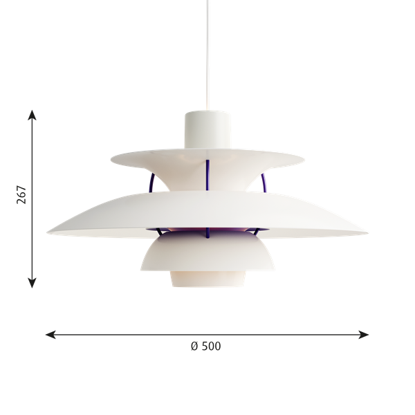 PH 5 Taklampa. Classic white
