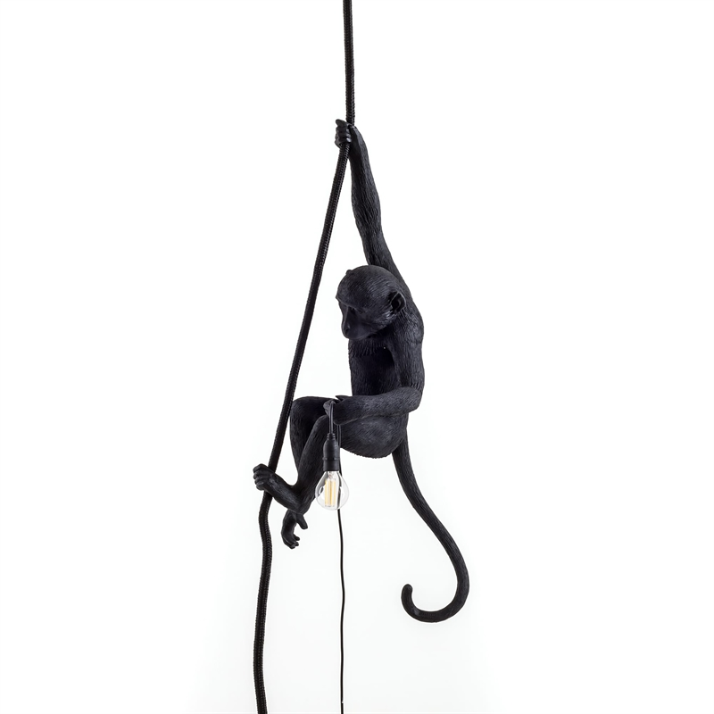 MONKEY LAMP CEILING BLACK