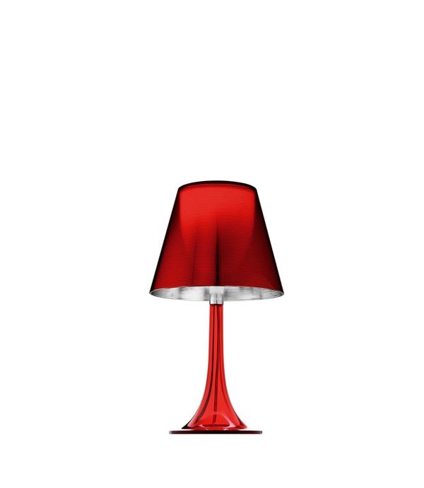 Panthella Mini Bordslampa. Röd Louis Poulsen ljushuset.se
