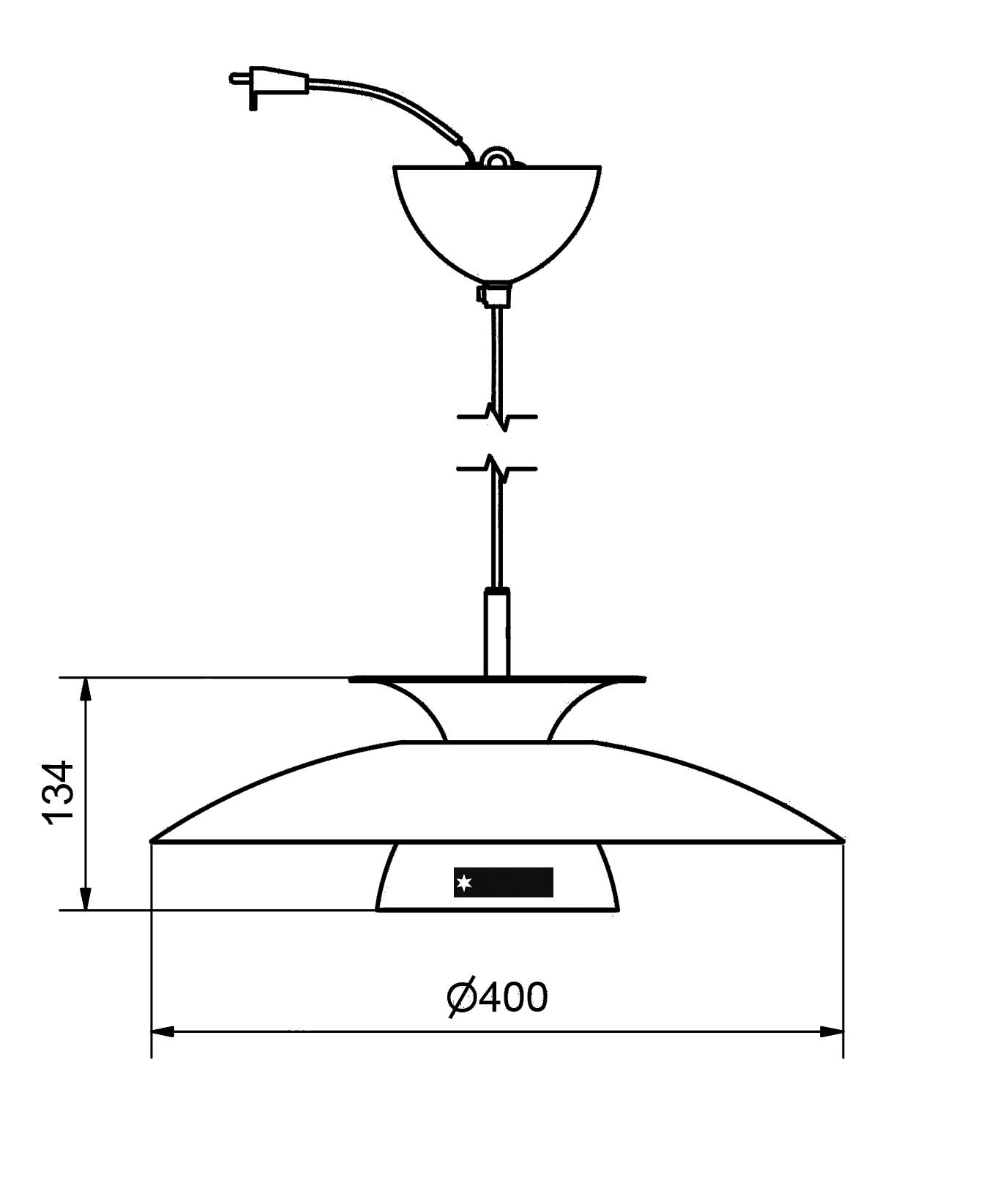Polar taklampa Ø40cm LED. Mattvit Belid ljushuset.se